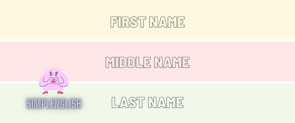 Как не перепутать First Name и Last Name