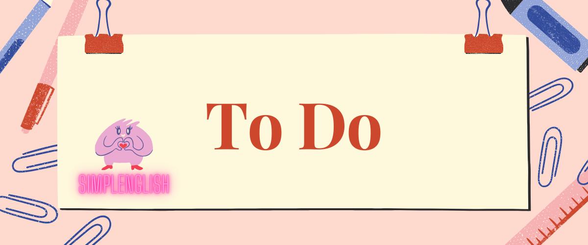 Правила использования глагола «to do»